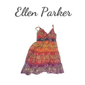 Ellen Barker Mulit Colored Sundress. Sz XL